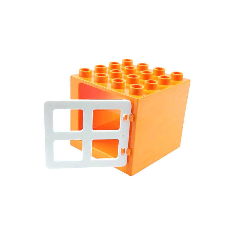 Legoing الانكليزي الطوب DIY متوافق مدينة كتل اللعب والهوايات 15 حفرة قصيرة نافذة لعبة للأطفال كبيرة حجم Legoing الانكليزي كتلة