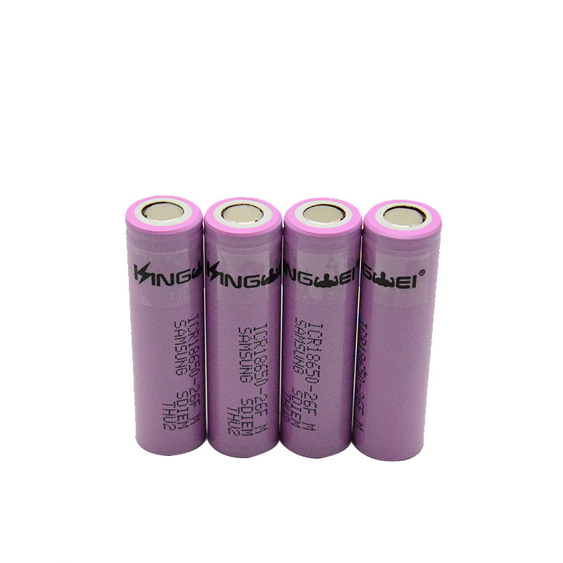 KingWei 18650 Battery For Samsung ICR18650-26F 2600mAh 3.7v Li-ion Lithium Rechargeable Battery image