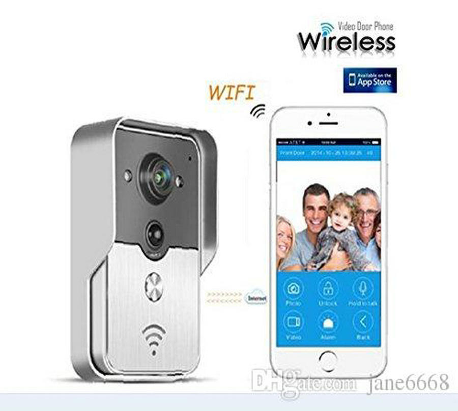 Free Shipping WIFI wireless Video door phone Night version MINI camera Video Intercom support IOS&Andorid APP Control Smart Home brand new wifi wireless video door phone door bell intercom systems app can be run in android and ios devices free shipping