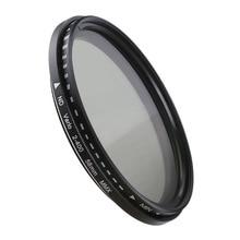 카메라 렌즈 필터 가변 중립 밀도 ND 필터 37 40.5 46 49 52 55 58 62 67 72 77 82mm Canon Nikon Sony Fujifilm DSLR