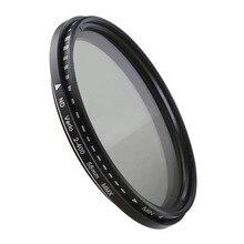 Фильтр объектива камеры переменной нейтральной плотности ND фильтр 37 40,5 46 49 52 55 58 62 67 72 77 82 мм для Canon Nikon Sony Fujifilm DSLR