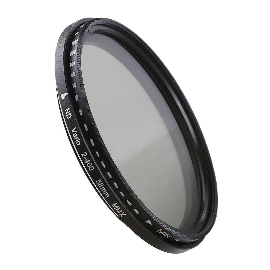 Obiettivo della fotocamera Filtro a Densità Neutra Variabile ND Filtro 37 40.5 46 49 52 55 58 62 67 72 77 82mm per Canon Nikon Sony Fujifilm DSLR