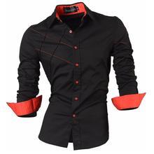 Jeansian Mens Dress Shirts Casual Stylish Long Sleeve Designer Button Down Slim Fit 2028 Black