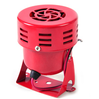 DWCX Motorcycle 12V Red Driven Air Raid Siren Horn Alarm 1950 S For Harley Car Truck