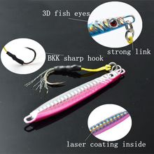 TOMA 5 Pieces Brand Jig 4 colors Jigging Metal Spoon lure High Quality VIB artificial bait BKK hook boat fishing lures lead fish