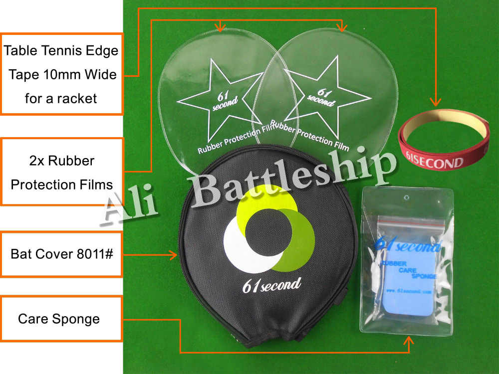Original 61second Small Case 8011# Table Tennis Accessories Set for Table Tennis Ping Pong Racket