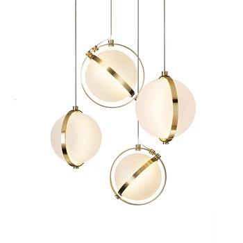 וילה מדרגות Led תליון אורות אקריליק עיגולים זוהר תליון אור עץ תליון מנורת Led Drop אור לתלות מנורת להשעות מנורה