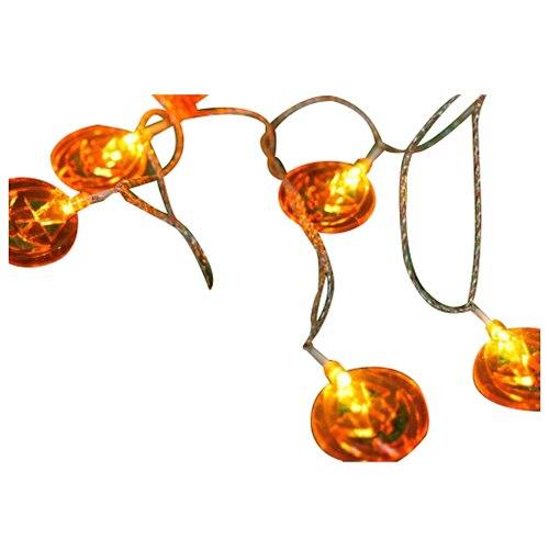 1.2M 10 Bulbs Pumpkin <font><b>Battery</b></font> <font><b>String</b></font> <font><b>LED</b></font> <font><b>Lights</b></font> Halloween Holiday <font><b>Light</b></font> Lighting Decoration <font><b>LED</b></font>