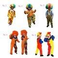 Big Top Clown Circus Funny Dress Up Kids Clown Halloween Costume For Fancy Dress