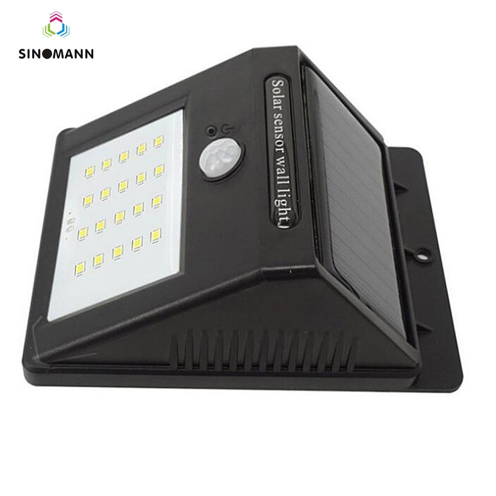 sensor de movimento recarregável 20 led solar
