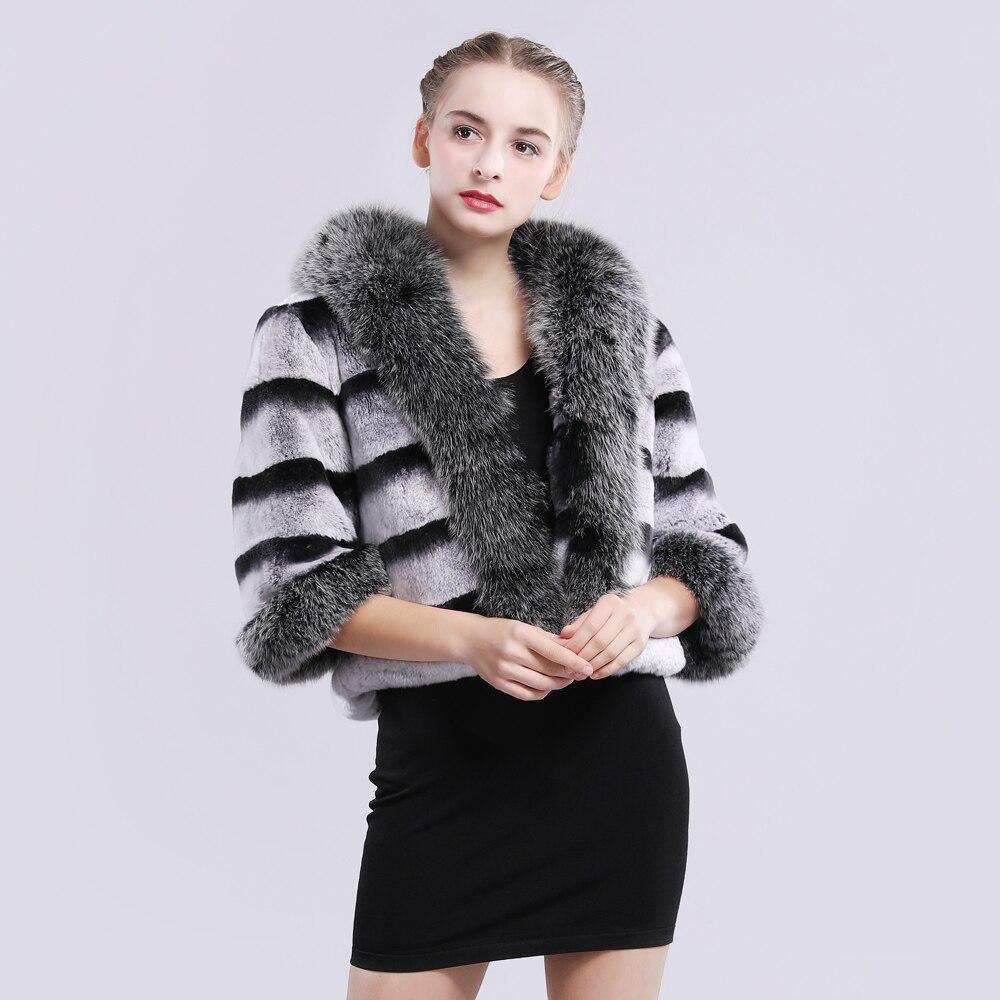 Véritable Big Lapin De Naturel 2019 Rex Qualité Col Real 100 Grey Marque Manteau Réel Veste Femmes Fourrure Avec Renard Iw6ggXSPq