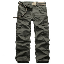 Men Cargo Pants 2019 Summer Tactical Casual Cotton Trousers Multi Pockets Military Army Track Pantalon Homme