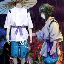Hot New Anime Spirited Away Nigihayami Kohakunushi Cosplay Costumes Men Children Clothing Suit Cartoon Support Custom