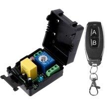 Переменный ток 220 В 10 А 1 канал РЧ 315 МГц беспроводной пульт дистанционного управления переключатель приемник + комплект передатчика