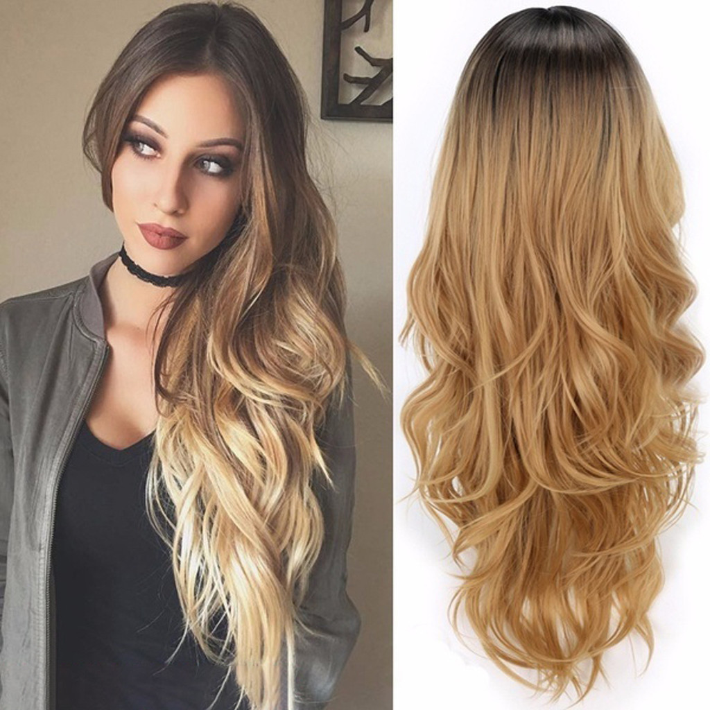Beauty & Health Braiders Fashion Long Curly Blonde Wigs Gradient Synthetic Fiber Wig Full Lace Wig Fashion Wavy Wig For Women 2u81213 Diversified Latest Designs
