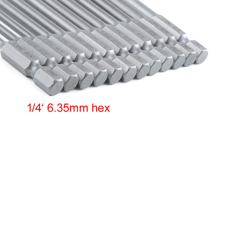 uxcell/® 5Pcs 1//4 Hex Shank 150mm Length Magnetic SL5 Slot Head Screwdriver Bits S2 Alloy Steel