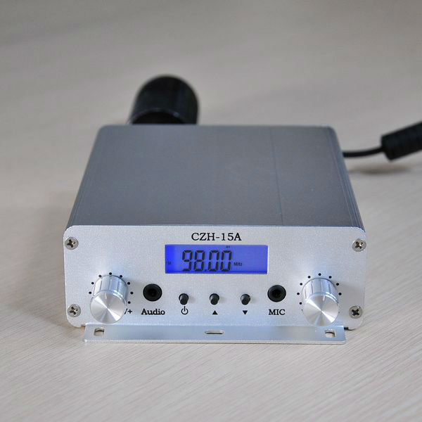 Free shippping 15W V1.0 FM stereo PLL broadcast transmitter 87.5-108mhzFree shippping 15W V1.0 FM stereo PLL broadcast transmitter 87.5-108mhz