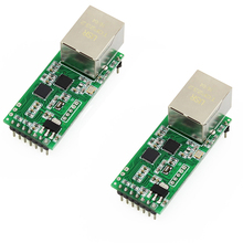 цена на Q18042-2  2PCS USRIOT USR-TCP232-T2 Tiny Serial Ethernet Converter Module Serial UART TTL to Ethernet TCPIP Module