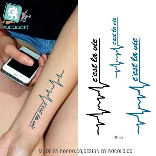 Rocooart HC1089 tatuaje temporal pegatina mujeres Sexy brazo pecho ...