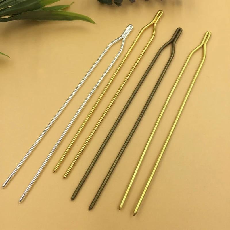 10pcs 125x2mm Y-shape Hair Pins,brass Hair Pins,Hair Accessories Hair Jewelry,Jewelry DIY Making Supplies