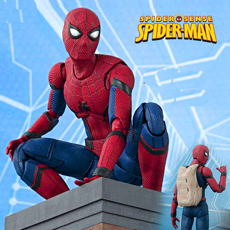 Spider Man Home coming BJD Spiderman 15cm Marvel Super Hero Action & Toy Figures Model Toys for Boys figma x man series spiderman figure no 001 revoltech deadpool with bracket no 002 revoltech spider man action figures