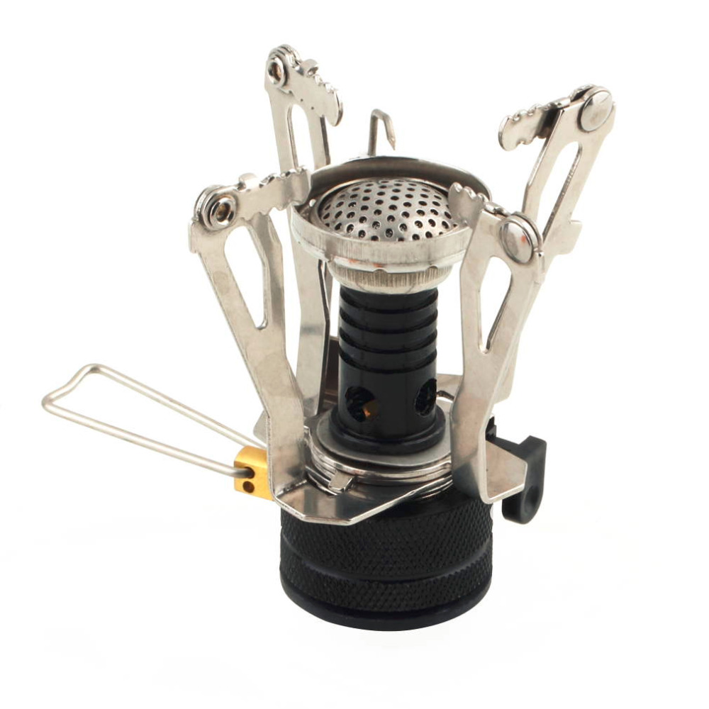 Mini Camping Stoves Folding Outdoor Gas Stove Portable Furnace Cooking Picnic Split Stoves Cooker Burners for Camping in Outdoor Stoves from Sports Entertainment