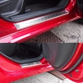 Монтафорд авто часть из нержавеющей стали внешний порог протектор педали Накладка порога 4 шт для Mazda 2 Demio 2015 2016