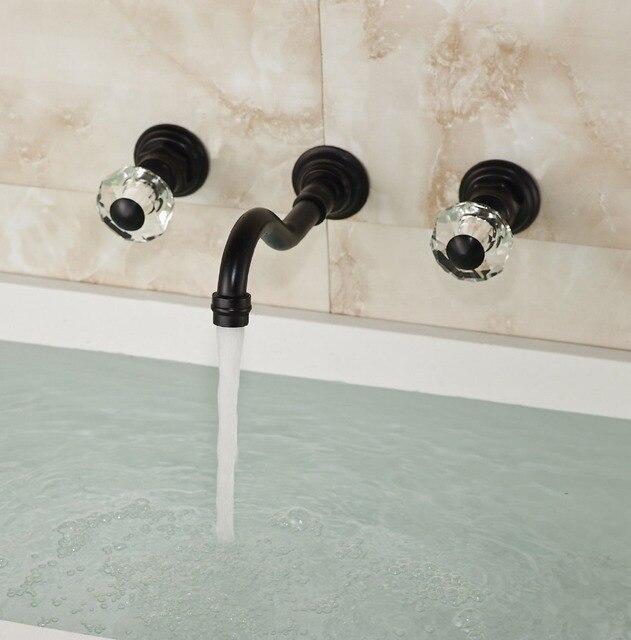 Salle de bains Double Cristal Boutons vier Robinet de Baignoire Montage Mural Mitigeur Bronze Huil.jpg 640x640 Résultat Supérieur 15 Élégant Robinet Mural Baignoire Galerie 2018 Kqk9