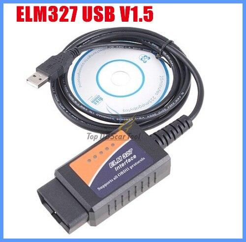 Авто-код читателя OBD/OBDII сканер ELM327 USB автомобиля диагностический инструмент интерфейс интерфейс V1.5 версия