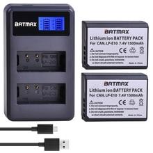 2X1500MAh LP E10 LPE10 LP E10 Pin Máy Ảnh Bateria + Màn Hình LCD Dual USB Sạc Cho Canon 1100D 1200D 1300D Nổi Dậy T3 T5 KISS X50 X70