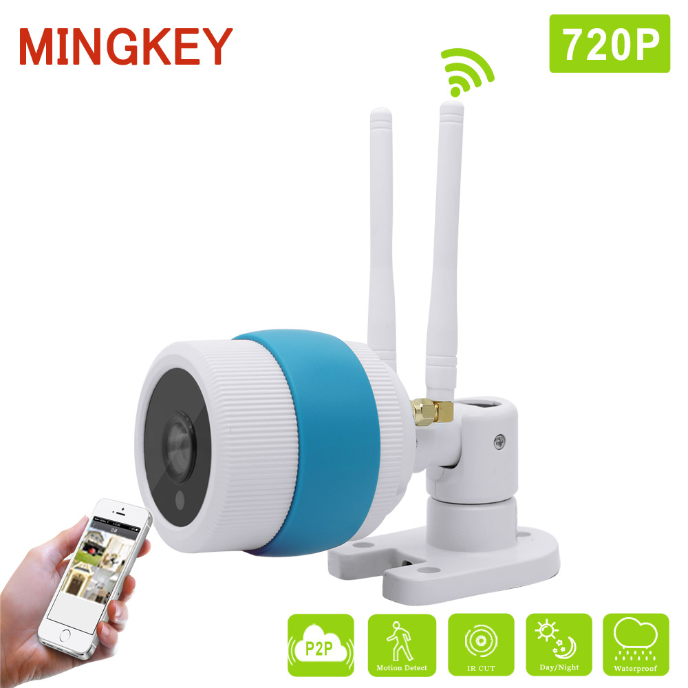 Mingkey 1.0MP Outdoor Wifi IP Security Camera Waterproof IP66 IR Bullet CCTV Camera 720P HD CCTV Camera Free APP Remote View wistino cctv camera metal housing outdoor use waterproof bullet casing for ip camera hot sale white color cover case