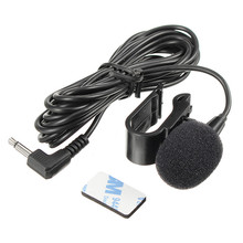 Good Quality Car External Microphone Mic 3.5mm Stereo Jack For Car DVD Player GPS Navigation Mic With Fixing Clip 3 Meter Cable