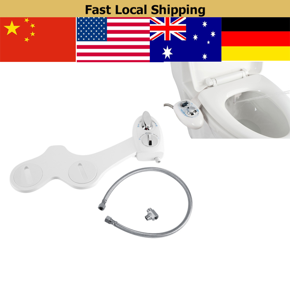 Dual Nozzle Cold Water Spray Non-Electric Adjustable Mechanical Bidet Toilet Seat Attachment toilet seat