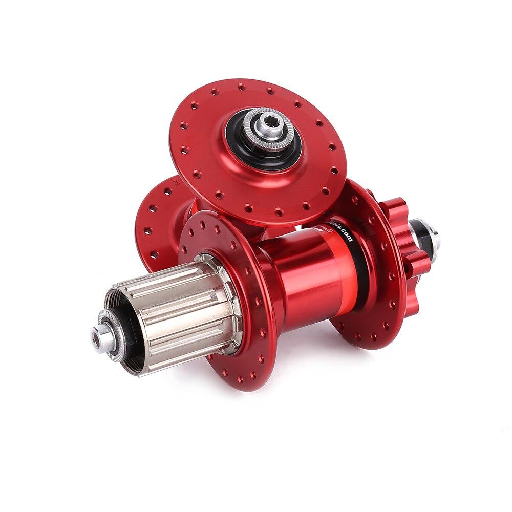 D'origine Novatec D041SB D042SB frein à carte à disque vtt VTT moyeu roulement moyeux de vélo 28 32 36 trous 28 h 32 h 36 h rouge noir - 5