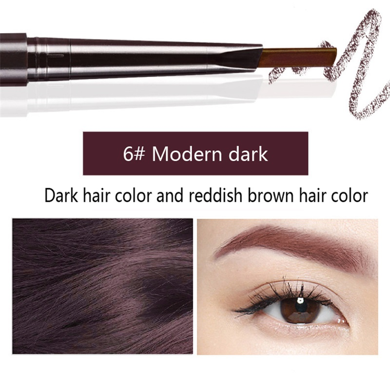 Hot Sale Eyebrow Automatic Tattoo Pen Waterproof Eye Makeup 5colors Easy Use Eyebrow Pencil Eyebrow #01 natural cool black 7