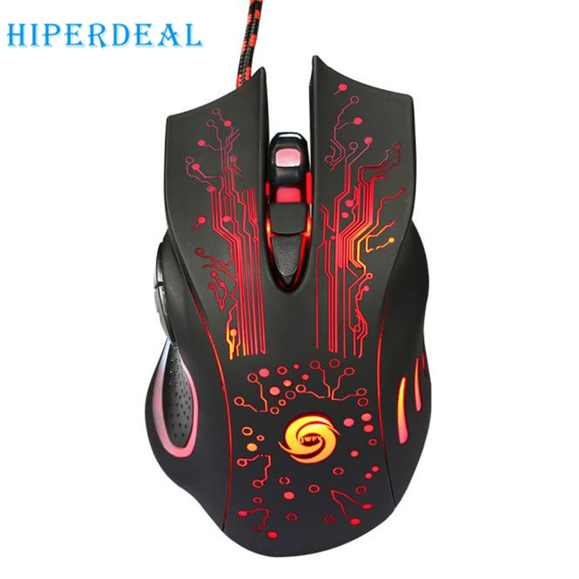 HIPERDEAL 2017 Dropshiping 6 Button 5500 DPI LED USB Optical mouse Wired Gaming PRO Mouse Per Il COMPUTER Portatile shiping libero Settembre 19