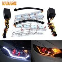KAHANE 12LED Crystal DRL Strips Flexible Daytime Running Light Turn Signal Light FOR VW T5 Passat B6 Golf 5 Nissan X Trail T32
