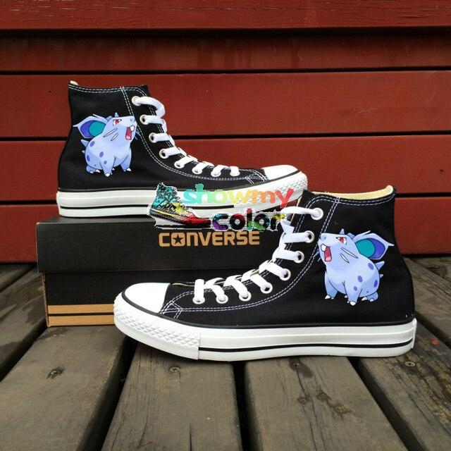 89c6e5d1e82e31 ... sweden mens converse sneakers custom design pokemon nidoran hand  painted canvas shoes women skateboarding anime shoe