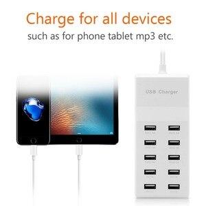 Image 5 - Powstro 10 USB Ladegerät Station Splitter 60W Handy Ladegerät HUB Smart IC Ladung Universal für iPhone Samsung Mp3 tablet Etc