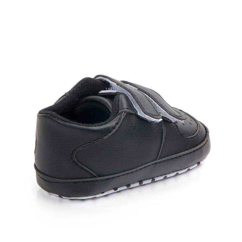Купить с кэшбэком Little Kids Shoes Newborn Toddler Boy Loafers PU Leather Hook-and-Loop Infant Baby Sneakers Anti-skip Soft Sole Bebes Crib Shoes