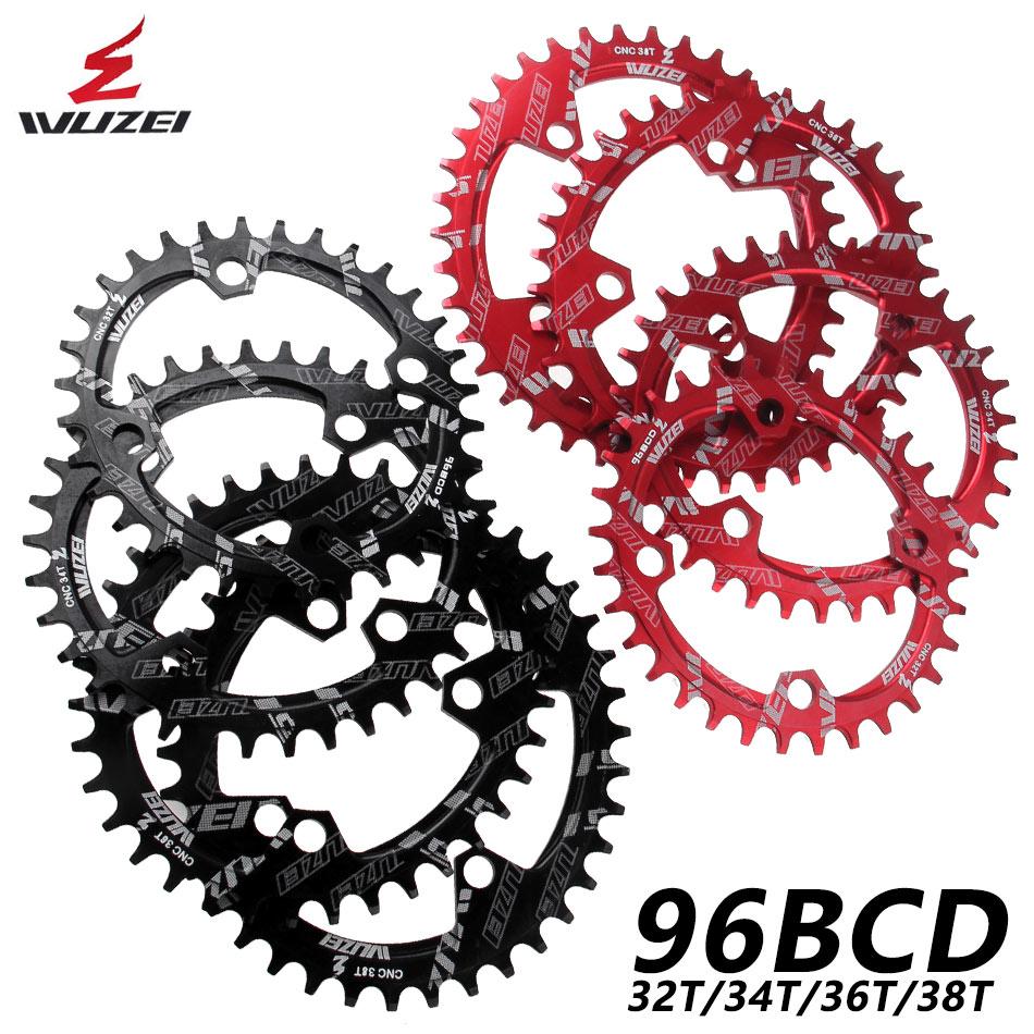WUZEI BCD 96mm Round/Oval Bicycle Chainwheel MTB Mountain Chain Wheel for Shimano ALIVIO M4000 M4050 M672 M782 GX Crank