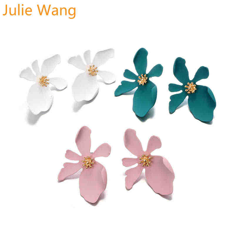 Cute Fashion Flower Earrings 1 pair