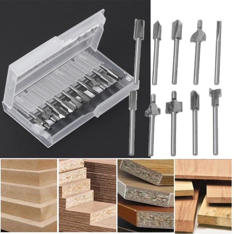 10 Stücke Hss Router Holz Fräser Bits Passt Dreh Werkzeug Set 1/8 3mm Diy Werkzeug Neueste Technik Dateien