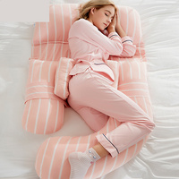 Регулируемый для беременных U Тип тела подушки для беременных Для женщин сбоку Подушка постельные принадлежности Беременность подушка для