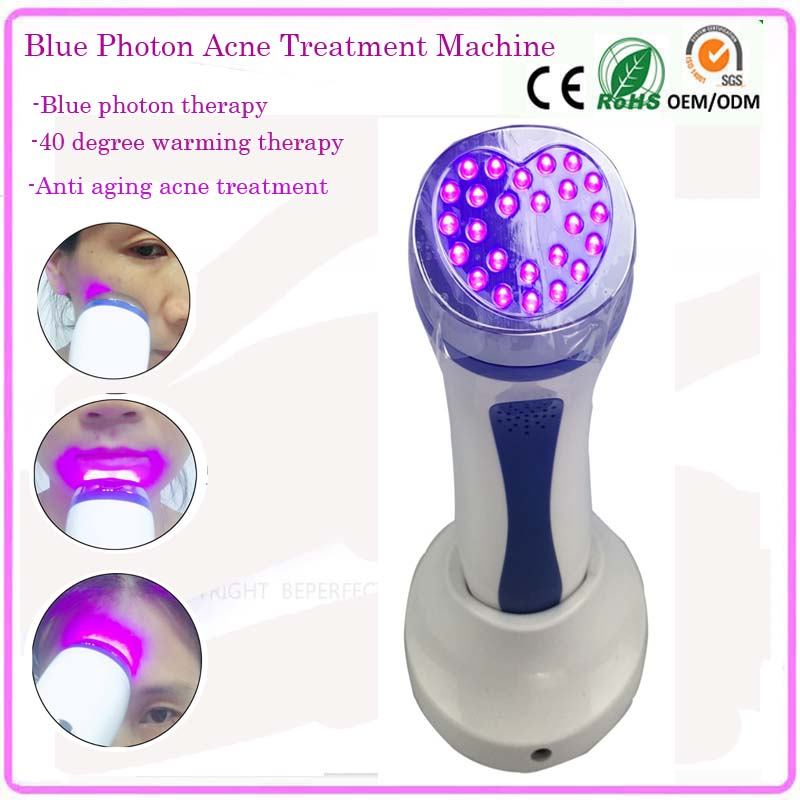 Home Use IPL Heating Blue Light Facial Toning Beauty Massager Device For Acne Treatment Skin Rejuvenation Lifting Tightening bio wave red blue yellow green led photon light skin therapy whitening tightening acne treatment facial beauty massager machine