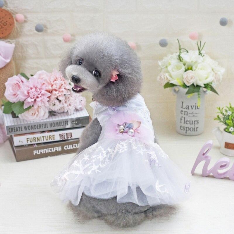 2019 Summer  Small Dog Tutu Wedding Dress Skirt Spring Pet  Puppy New Summer Dog Princess Wedding Dress Pet Dog