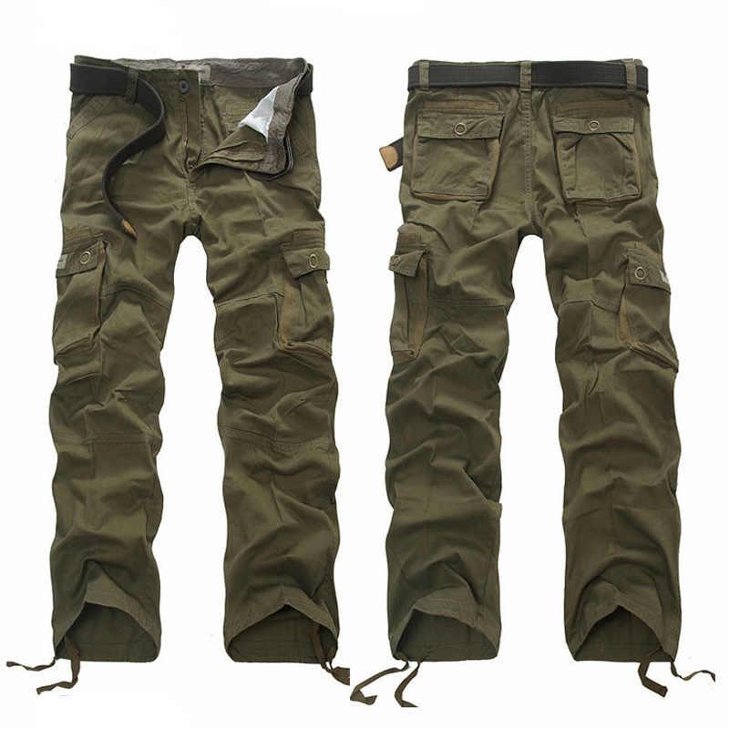 6f2445ec2df2f ... 30-44 плюс Размеры высокое Качественный 100% хлопок Мужские брюки карго  Повседневное Для мужчин ...