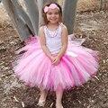 Lo nuevo Tono de Rosa tutu Falda Para Las Niñas hermosa Esponjosa falda del tutú de Sombra de Color Rosa las duchas del bebé foto atrezzo retratos cumpleaños