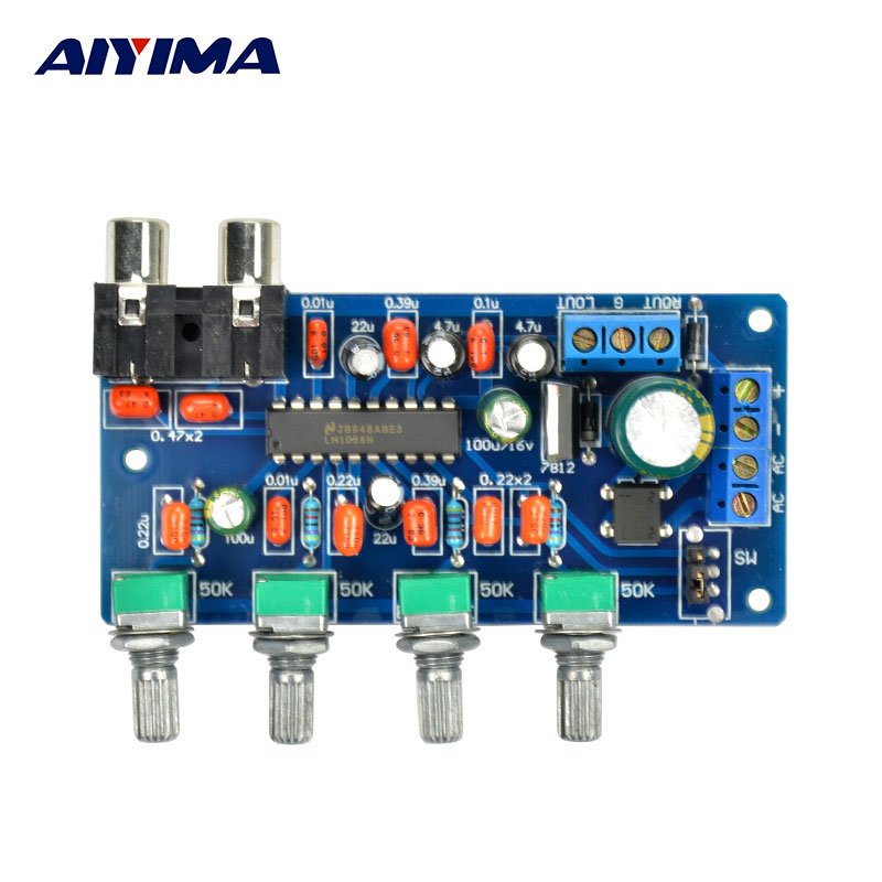 aiyima 1pc amplifier board ac dc lm1036n hifi tone control. Black Bedroom Furniture Sets. Home Design Ideas