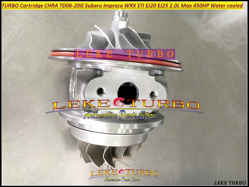 Turbo Cartridge CHRA TD06 20G TD06-20G TD06-20GHW For SUBARU Impreza WRX 2002- 2.0L EJ20 EJ25 MAX 450HP ONLY Fit China Made TD06  hosingtech for subaru impreza wrx grb ej25 07 ver 10 silicone turbo kit